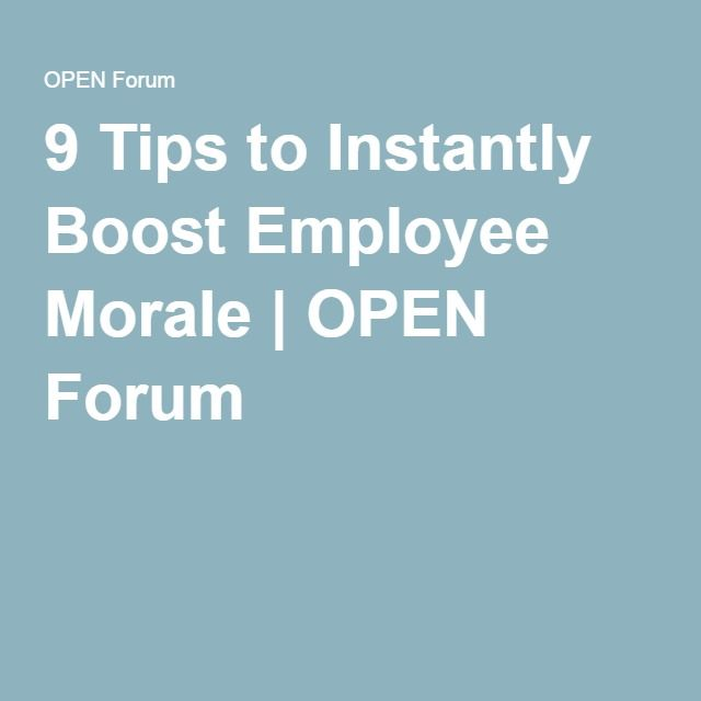 the importance of boosting morale in Here are 7 simple ways to increase employee morale and performance   remember, you can't diminish the importance of recognition and.