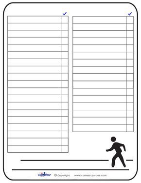 Blank Printable Around Town Scavenger Hunt List - Coolest Free Printables