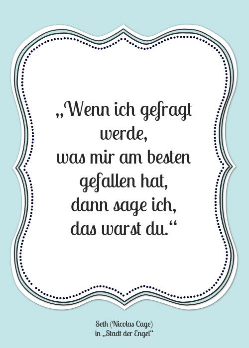 """Zitat Seth (Nicholas Cage) in """"Stadt der Engel"""""""