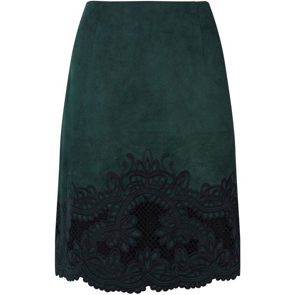 Coast Cece Embroidered Skirt (215 PEN) ❤ liked on Polyvore featuring skirts, mini skirts, sale women skirts, embroidered mini skirt, scallop hem skirt, coast skirts, scallop edge skirt and scalloped skirt