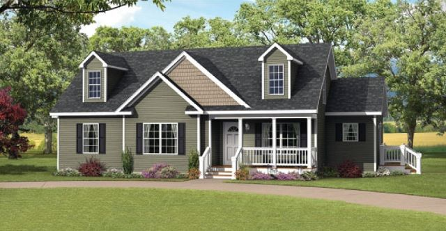 The Dalton II Cape Cod-custom modular home-custom modular floor plan-unfinished upstairs modular home