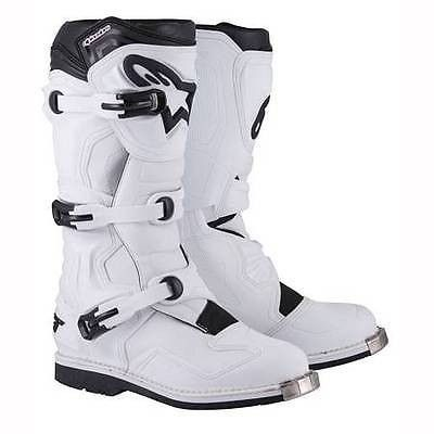 Alpinestars Tech 1 Offroad Motocross Boots White Mens Size Men's, Size: US 8