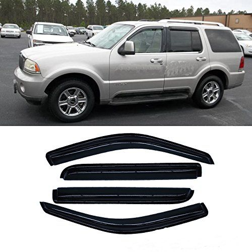 4pcs Front  Rear Car Sun Rain Guard Vent Shade Window Visor Wind Deflector Non In Channel for 20022010 Ford Explorer  Mercury Mountaineer 20032005 Lincoln Aviator 4Door SUV -- To view further for this item, visit the image link.