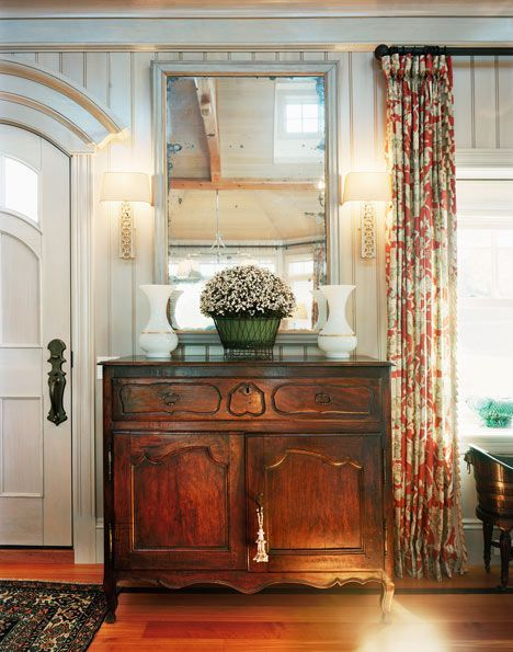 Room Over Foyer : The right antique piece can add warmth interest and give