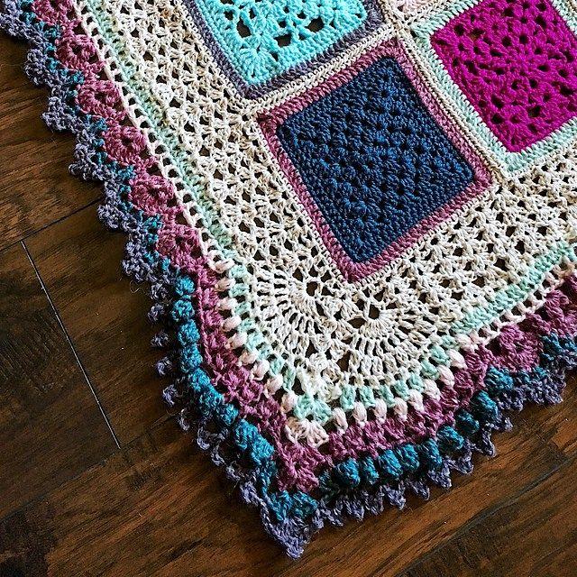 Easy Learn How To Crochet Vibrant Vintage Blanket Border
