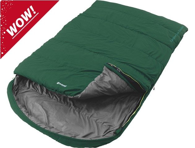 A luxurious double sleeping bag, with two layers of offset insulation for warmth and comfort even in minus temperatures.