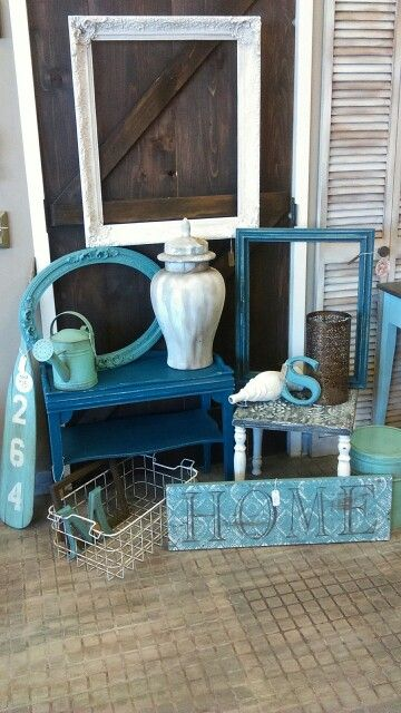 Teal, Seafoam, Frames, Side Tables Dizzy Miss Lizzie, South Glens Falls NY
