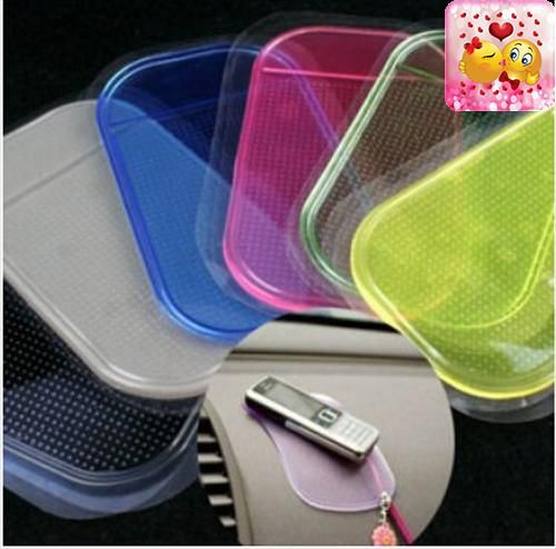 #cars #Powerful Silica Gel Magic Sticky Pad Anti Slip Non Slip Mat for Phone PDA mp3 mp4 Car Accessories Multicolor    Color:Blue, yellow,red,purple,green,black,...