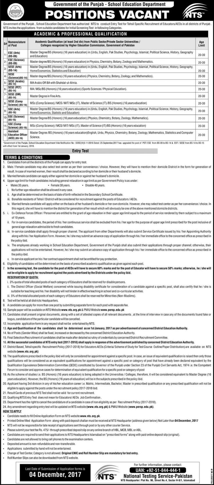 Punjab School Education Department PSED Jobs 2017 In Lahore For Teachers And Assistant Education Officer http://www.jobsfanda.com/punjab-school-education-department-psed-jobs-2017-lahore-teachers-assistant-education-officer/