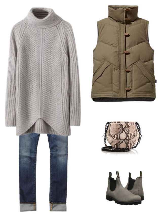 """""""Untitled #1718"""" by yuenchewwan on Polyvore featuring AG Adriano Goldschmied, rag & bone, Blundstone and Patagonia"""