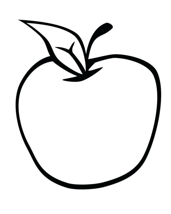 Nice A Alphabet Apple Coloring Page Apple Coloring Apple