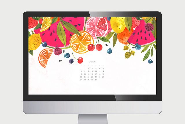 Calendar Wallpaper Ipad : July calendar oana befort free wallpaper