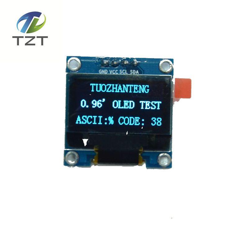 1 sztuk niebieski kolor 0.96 cal 128X64 Moduł Wyświetlacza OLED Dla arduino 0.96 IIC Komunikacji SPI