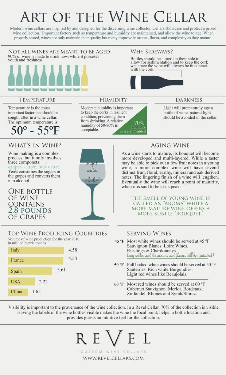 Infographics - Art Of The Wine Cellar...I need this so I can build the wine cellar of my dreams in my new house! www.annjaneliving.com