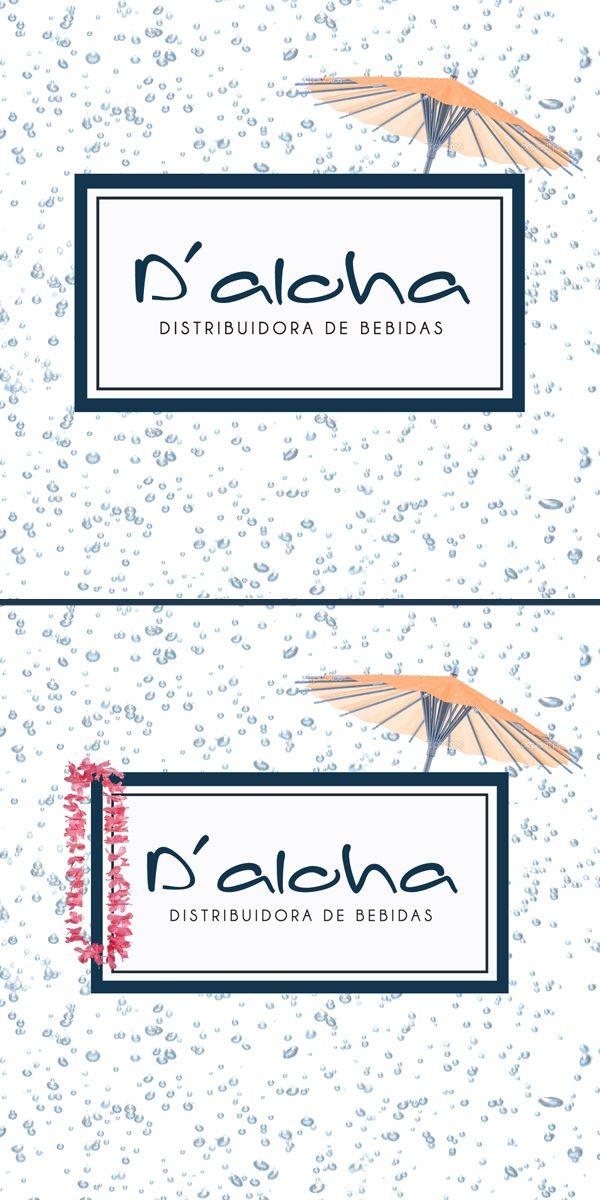 #aloha #distribuidora #bebidas #alcoholicas #alcohol #delivery #noche #previa #diseño #diseno #grafico #creatividad #imagen #logo #logotipo #marca #isologo #isologotivo