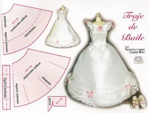 Ball dress for doll. How to make waist.