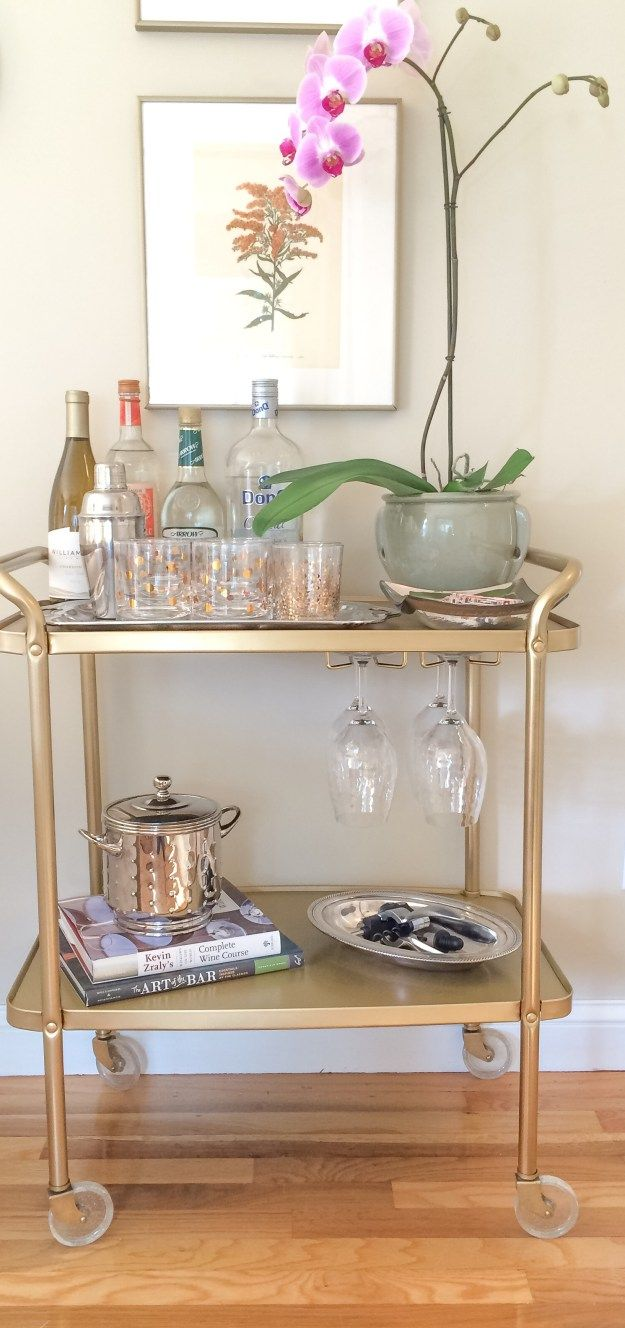 bar-cart-makeover