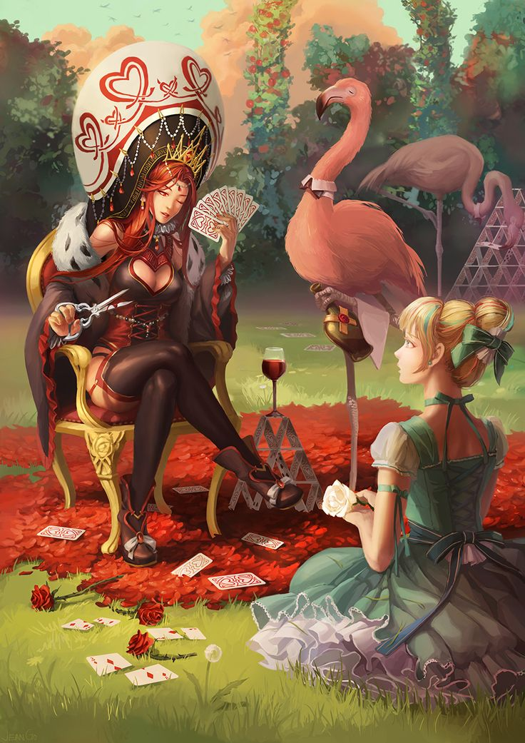 Alice and Queen of the Hearts by miasus.deviantart.com on @deviantART