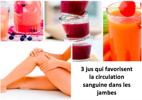 3 jus qui favorisent la circulation sanguine dans les jambes - Améliore ta Santé