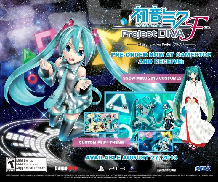PlayStation: Hatsune Miku Project Diva F USA PS3