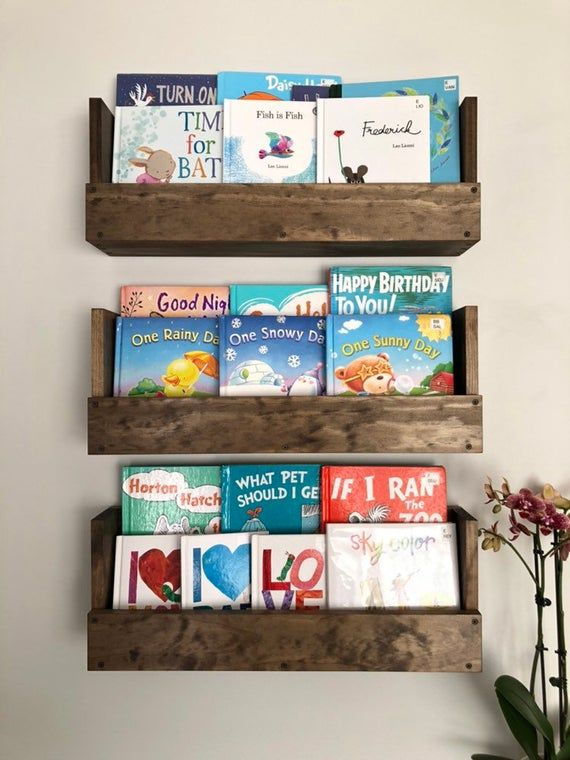 Kids Room Wall Hanging Book Shelves Nursery Book Shelves Set Etsy Kids Room Nursery Book Kids Rooms Diy