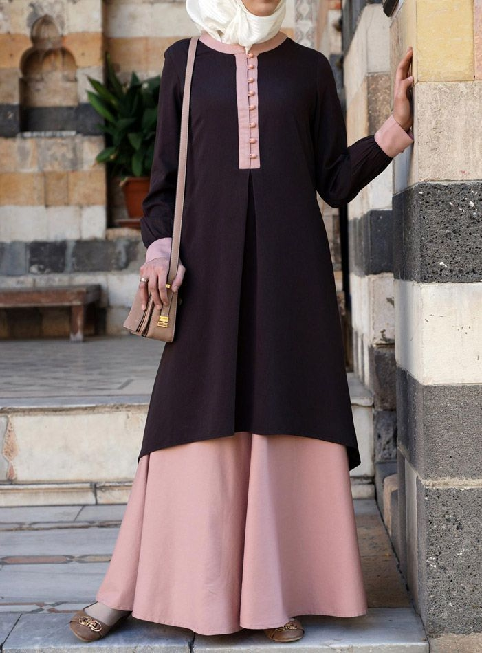 Hijab Fashion 2016/2017: The fabric is awesome on this  Bamboo Blend version of the  Andalib Tunic. From SHUKR