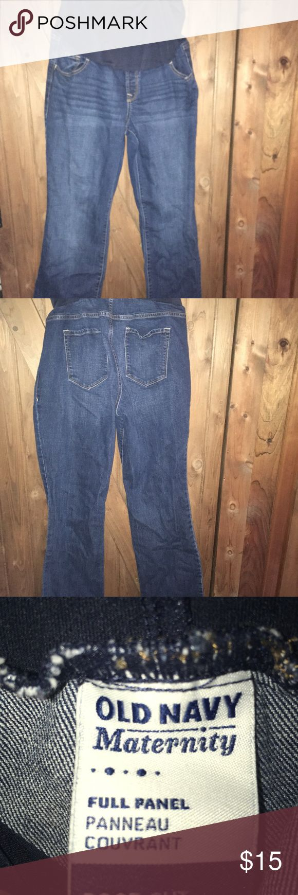 Old Navy Maternity jeans Full panel boot cut maternity jeans . Dark denim . Sz 16 reg. Like new Old Navy Jeans Boot Cut