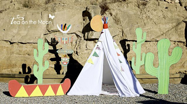 Cumpleaños de indios. El escenario by ♥ begoña ♥ tea on the moon