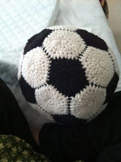"""My child loves soccer but i don't allow him to play with his regular ball inside the house. I created this pattern to allow for a """"softer"""" option for him to play with inside."""