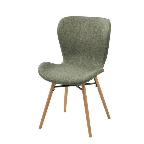 Stoel Rio stof groen met houten poten. Zeer eigentijdse eetkamerstoel met een stoere weefstof. Design stoel voor een hele lage prijs € 77,50. Leverbaar in 4 kleuren bij https://www.meubelen-online.nl/Eetkamerstoel-Rio-groen-stof-met-houten-poten