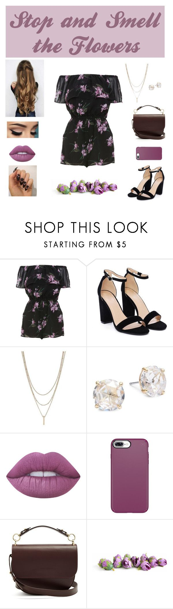 """""""Life is Too Short to Rush"""" by beauty55 ❤ liked on Polyvore featuring BB Dakota, Nasty Gal, Kate Spade, Lime Crime, Speck and Sophie Hulme"""