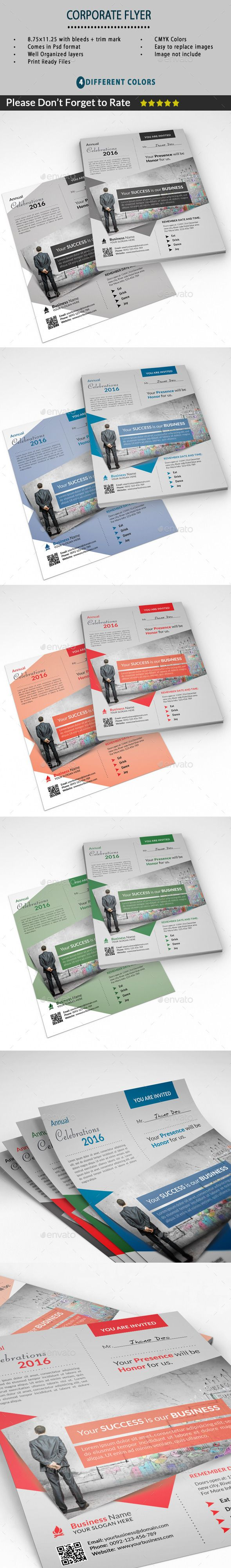 This Great Flyer Template is for Business Companies. This template can also be used for a magazine advertisement or used as an online flyer as a PDF file. FLYER DETAILS Fully Editable Files 8.511 (8.7511.25 with bleeds   trim mark) 300 DPI 4 Different Colo