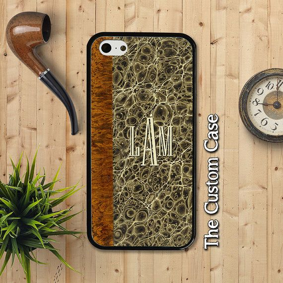 Old Monogrammed Marbled Book Phone Case by TheCustomCase