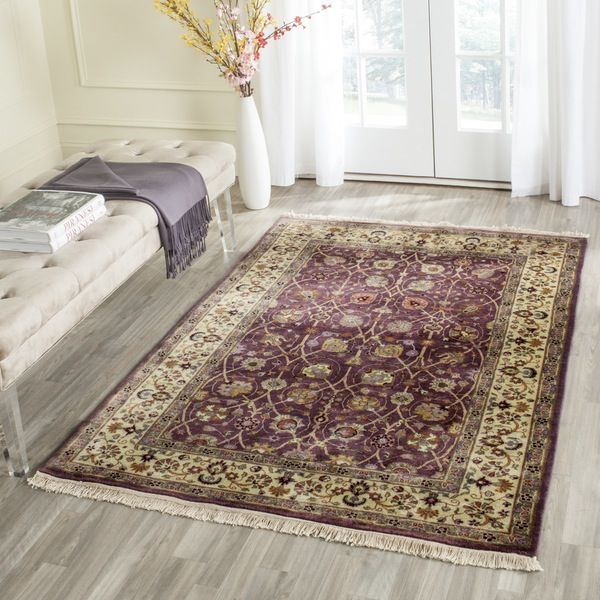 Ganges River Purple / Light Green Indoor Rug