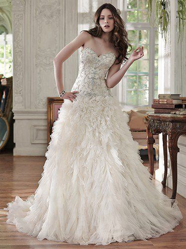 The Epitome Of Bridal Romance Is Found In This Ball Gown Wedding Dress With  An Exquisite Swarovski Crystal Beaded Bodice And A Voluminous, Layered  Tulle ...