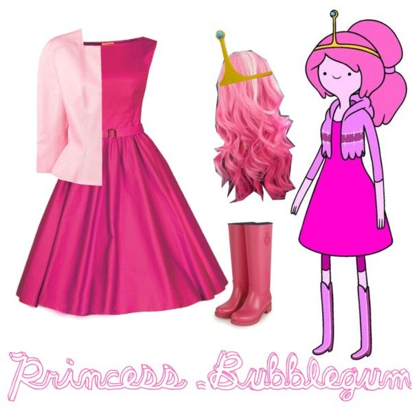 Casual cosplay Princess Bubblegum # adventuretime #monocromo