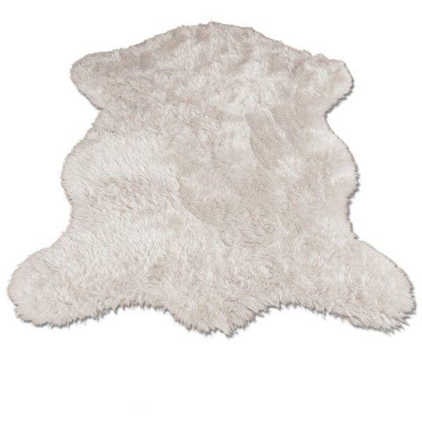Viv + Rae Jerod Polar Bear Pelt Faux Fur Shag Area Rug | Wayfair ($84) ❤ liked on Polyvore featuring home, rugs, polar bear rug, shag area rugs, fake fur rugs, shag rug and faux fur area rug