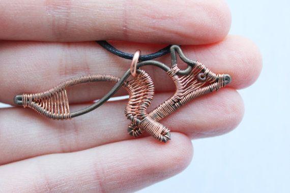 Little Fox necklace Fox Necklace Fox Jewelry by MakesCraftsNotWar