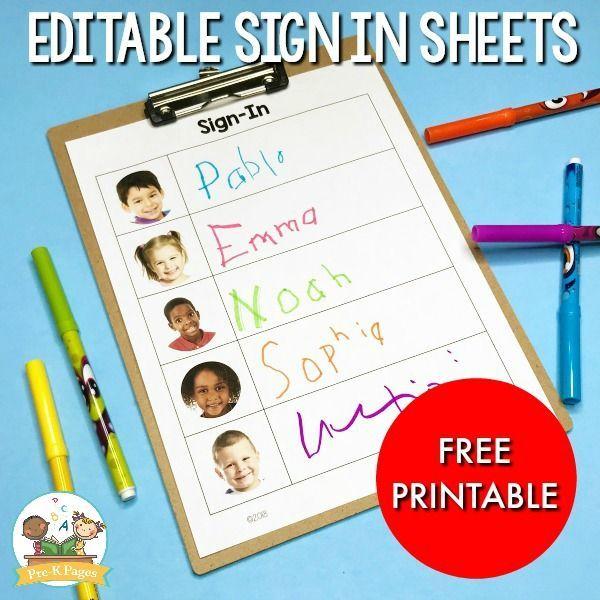Preschool Free Daily Sign In Sheet For Preschool Goruntuler Ile