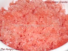 Watermelon Granita - Since it's just me eating any watermelon I buy, I usually end up throwing out some. This was a great way to use up any leftover watermelon and a nice refreshing treat.