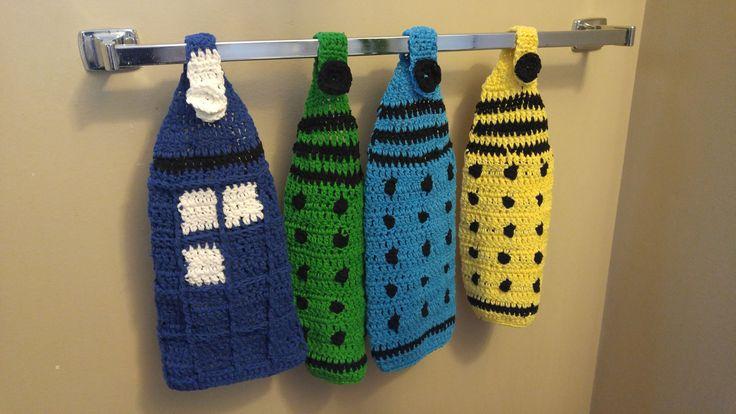 Police Box hanging tea towel, doctor who, Tardis, Dalek by MarjielousCreations on Etsy