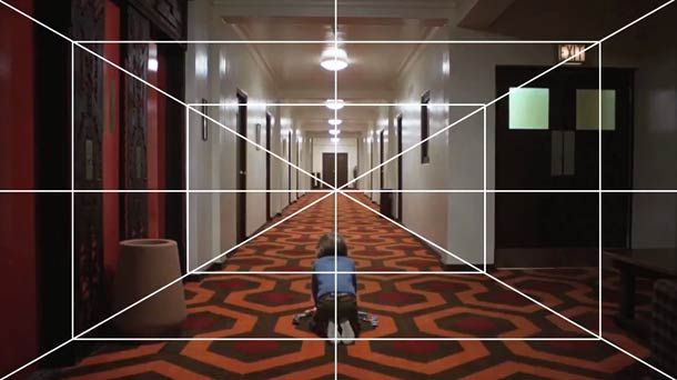 The Shining (1980) Stanley Kubrick - One point perspectief shot