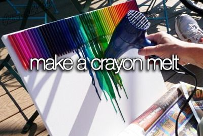 Crayon Melt. ~Will probably do this, this summer~