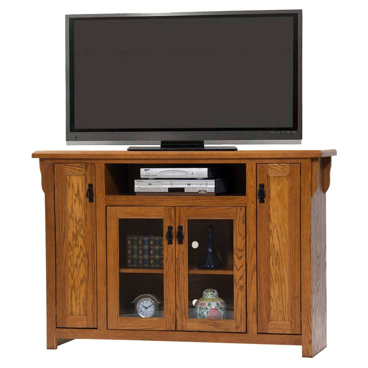 American Heartland 59 in. Oak Tall TV Stand - Assorted Finishes - #88856LT