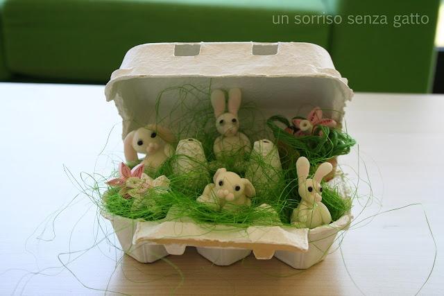 DIY corn flour dough Easter bunnies / Coniglietti di Pasqua di pasta di mais