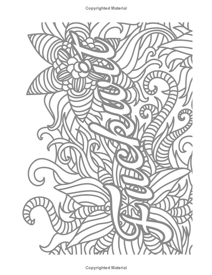 32 Coloring Pages For Adults Swear Words