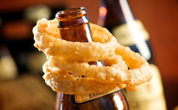 Golden Crispy Guinness Battered Vidalia Onion Rings.  - foodchannel.com.  If Guinness is in the receipe, it's good to go for St. Paddy's Day.