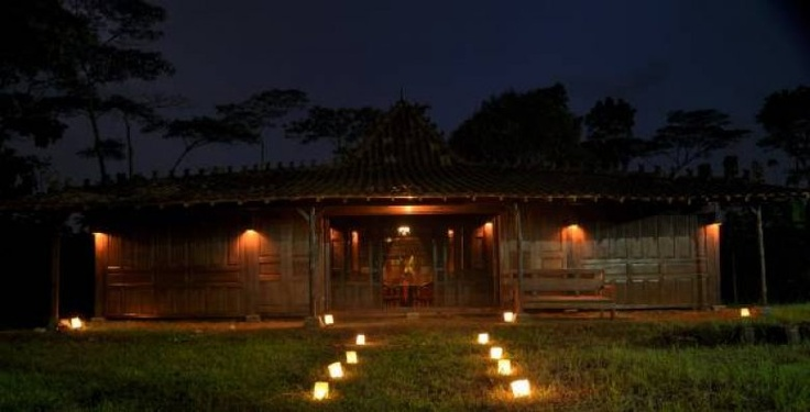 Traditional Javanese house (teak wood).