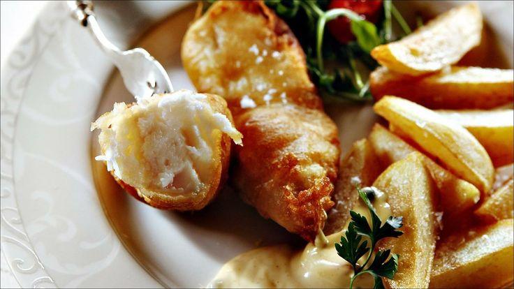 Fish and chips med tartarsaus - Slik får du barna til å elske fisk. Lag ekte fiskepinner med hjemmelagde potetchips.