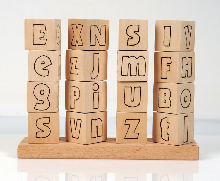 Eco Friendly Educational Toy - English Letters
